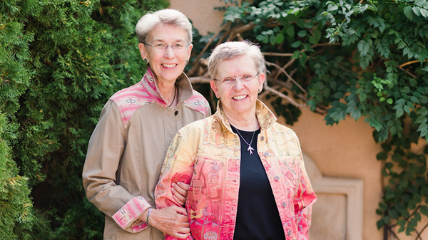 "Catharine ""Cat"" Scheibner '73 and her wife Carrie Haag"